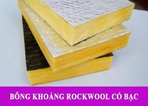 Bông Khoáng Rockwool Cách Âm Có Bạc