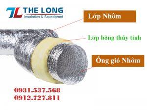 Cấu tạo ống gió mềm cách nhiệt bảo ôn.