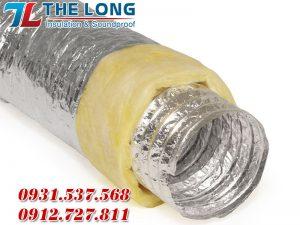 Hình ảnh thực tế sản phẩm ống gió mềm cách nhiệt Thế Long