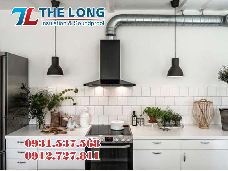 Lắp đặt ống gió mềm hệ thống cách nhiệt nhà bếp
