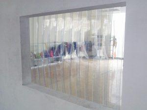 Rèm cửa kho lạnh.