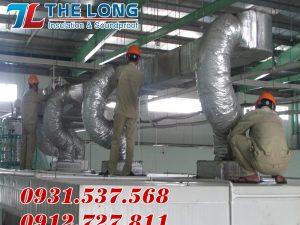 Ứng dụng Ống Gió Mềm Cách Nhiệt thi công đường ống dẫn khí lạnh