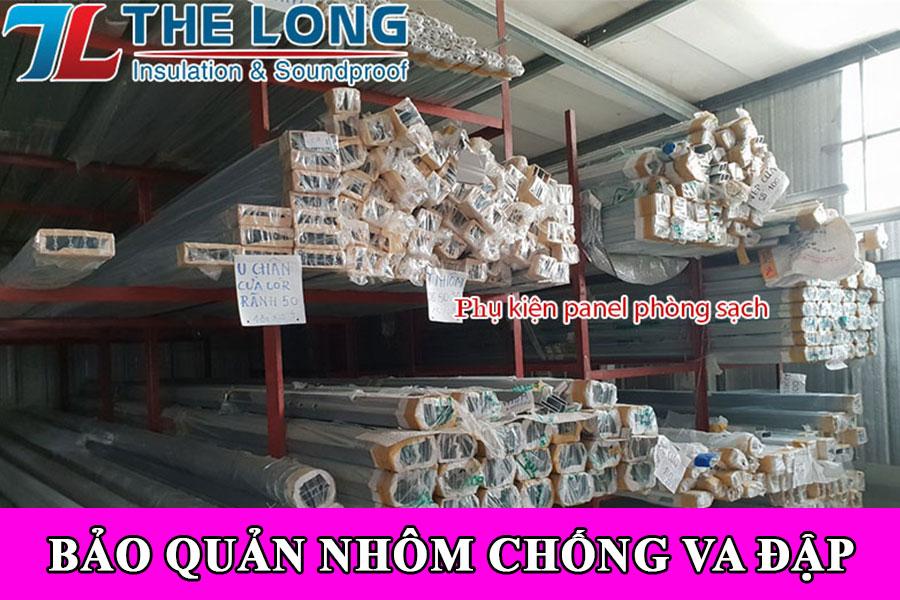 Bảo quản phụ kiện nhôm phòng sạch chống va đập