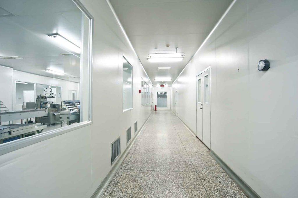 Công trình sử dụng phụ kiện nhôm phòng sạch.