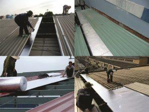 Công trình thi công cách nhiệt mái nhà xưởng
