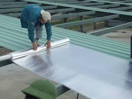 thi công cách nhiệt mái bằng tấm chống nóng