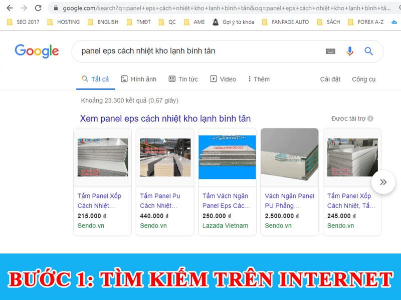 Kinh nghiệm mua Tấm panel làm kho lạnh tìm kiếm trên google
