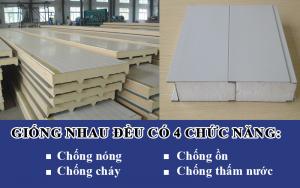 Phân loại Tấm panel làm kho lạnh, sự giống nhau giữa tấm panel pu, panel eps là khả năng chống ồn, chống cháy, chống thấm và chống nóng tốt.