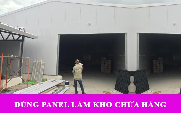 Ứng dụng tấm panel để làm kho lưu hàng hóa