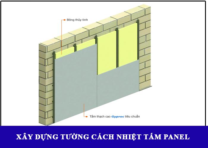 Sử dụng tấm panel rockwool xây tường cách nhiệt, chống cháy