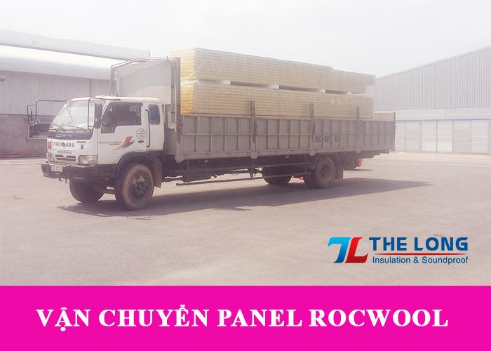 Xe tải vận chuyển tấm panel rockwool chống cháy