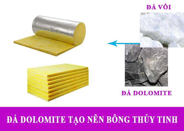 Bông thủy tinh cách nhiệt tạo nên từ đá dolomite