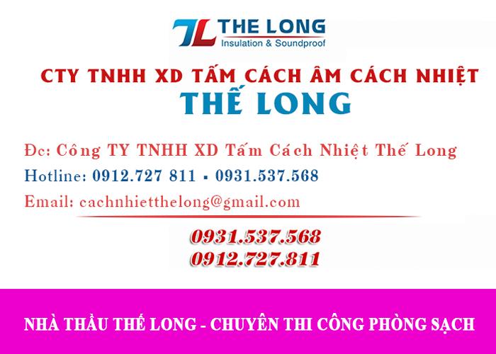 Công ty Thế Long là 1 trong 9 nhà thầu thi công phòng sạch uy tín TP.HCM