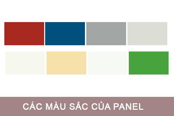 Màu sắc của tấm panel xốp cách nhiệt